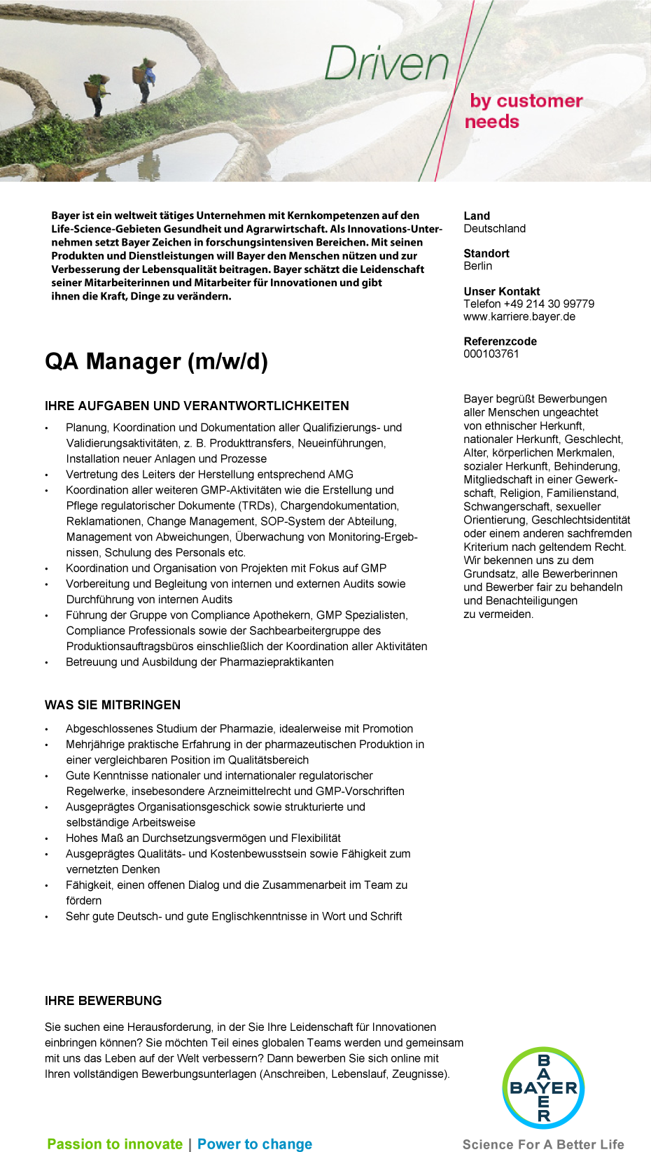 QA Manager (m/w/d)